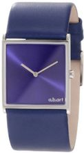 a.b. art E109 Series E Stainless Steel Swiss Quartz Blue Dial and Leather Strap