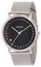 a.b. art KLD102B Series KLD Stainless Steel Swiss Quartz Date, Black Dial and Mesh Metal Bracelet