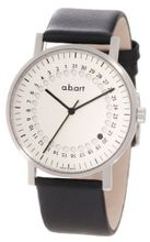 a.b. art O101 Series O Stainless Steel Swiss Quartz Silver Dial and Leather Strap