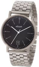 a.b. art O104B Series O Stainless Steel Swiss Quartz Black Dial and Metal Bracelet