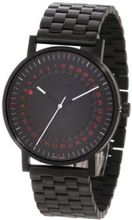 a.b. art O150B Series O Black Stainless Steel Swiss Quartz Black Dial and Metal Bracelet