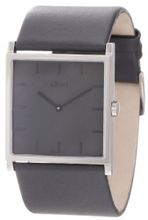 a.b. art Unisex EL106 Series EL Stainless Steel Swiss Quartz Grey Dial and Leather Strap
