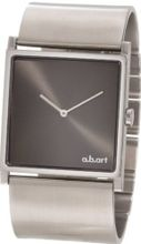 a.b. art Unisex EL108B Series EL Stainless Steel Swiss Quartz Black Dial and Metal Bracelet