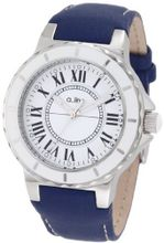 a_line 20012 Marina White Dial Blue Leather