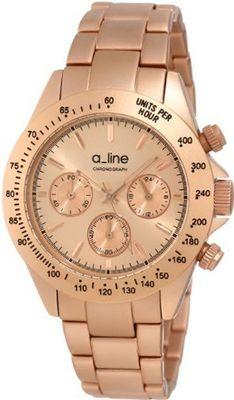 a_line 20050-RR Amore Chronograph Light Rose Gold Tone Dial Rose Gold Tone Aluminum