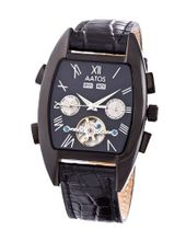 Aatos Automatic Black Leather Black Dial GiacomoLBB