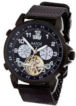 Aatos Automatic Black Plated Stainless Steel Black Dial TiosBBB