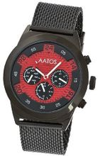 Aatos Automatic Black Plated Stainless Steel Carbon Fiber Face Red Dial WedusBBR