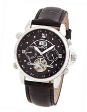 Aatos Automatic Diamonds Black Leather Band Black Dial JaakkoLSBD