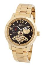 Aatos Automatic Gold Plated Stainless Steel Black Dial HamishGGB