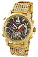 Aatos Automatic Gold Plated Stainless Steel Carbon Fiber Black Dial AigosGGB