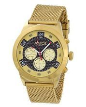 Aatos Automatic Gold Plated Stainless Steel Carbon Fiber Face Black Dial WedusGGB