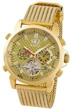 Aatos Automatic Gold Plated Stainless Steel Carbon Fiber Face Gold Dial AigosGGG
