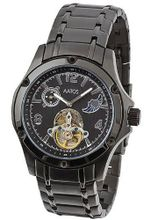 Aatos Automatic Metal Case Stainless Steel Band Black Dial LuciusBBB