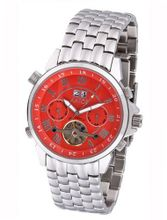 Aatos Automatic Stainless Steel Band Red Dial JaakkoSSR