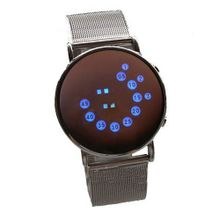 Absolute Flash LED Color Mirror Time & Date Casual/Sport Wrist (SILVER)