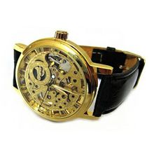 Absolute See Through Skeleton Dial  &  Mechanical Wrist - Gold