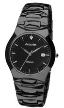 Accurist Gents Black Ceramic Case And Bracelet Mb992S