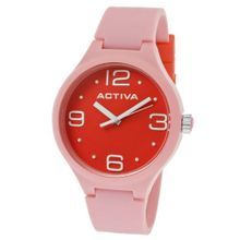 Activa By Invicta AA101-011 Red Dial Pink Polyurethane