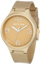 Activa By Invicta AA101-020 Gold Tone Dial Gold Tone Polyurethane