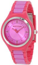 Activa By Invicta AA201-012 Purple Dial Dark Pink and Purple Plastic