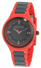 Activa By Invicta AA201-016 Black Dial Red and Charcoal Grey Plastic