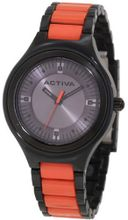 Activa By Invicta AA201-018 Silver Grey Dial Black and Red Plastic