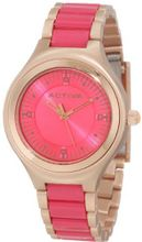 Activa By Invicta AA201-024 Hot Pink Dial Rose Gold and Dark Pink Plastic