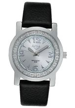 Silver Dial Black Leatherette