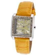 Yellow Pearl Tone Dial Yellow Leatherette