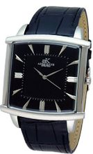 Adee Kaye #AK2220-M Leather Band Black Dial Casual Slim Analog