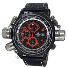 Aeromatic 1912 47mm Pilot Alarm Chronograph and World City Scale A1349