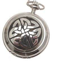 Celtic knotwork pocket pewter fronted mechanical design 68