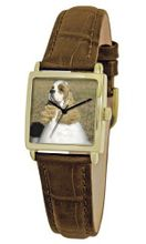 American Kennel Club D1759S011 Cocker Spaniel Gold-Tone Brown Leather