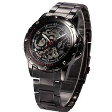 AMPM24 Black Stainless Steel Automatic Mechanical Skeleton Sport PMW207