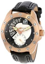 Android AD425BRKL Concept T Swiss Retrograde Multifunction Rose-Tone Black