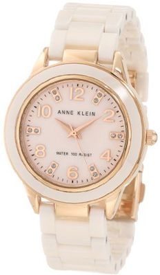 Anne Klein 10/9344RGLP Ceramic Rose-Tone and Light Pink Ceramic