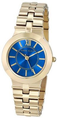 Anne Klein AK/1494BLGB Vibrant Blue Dial Gold-Tone Bracelet Dress
