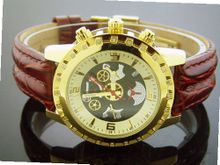 Aqua Master 38mm Round 24 Diamonds Gold Color Face