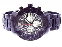 Aqua Master 45mm Round 20 Diamonds Black Case