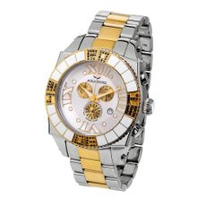 Aquasiss 62XGB002 Swissport Diamond Chronograph Two Tone Stainless Steel Case and Band