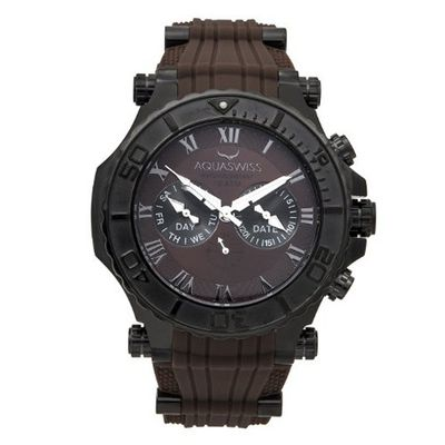 uAquaSwiss Aquaswiss 39G5010 Bolt Multifunction Swiss Black Ion Stainless Steel Case