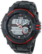 Armitron Sport 20/4942RED Chronograph Analog-Digital Display Black Resin Strap