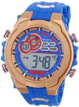 Armitron Sport 40/8188BRG Red and Rose Gold-Tone Accented Blue Resin Strap Digital Chronograph