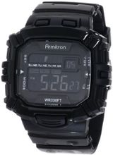 Armitron Sport 40/8244BLK Black Rectangle Chronograph Digital
