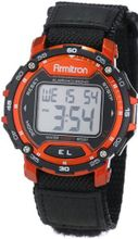 Armitron Sport 40/8291RED Black Velcro Strap Round Red Digital Chronograph