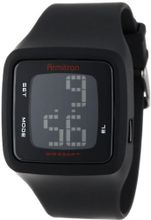 Armitron Sport 40/8294BLK Square Black Resin Strap Digital