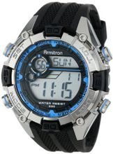 Armitron Sport 40/8300BLU Blue and Silver-Tone Accented Black Resin Strap Chronograph Digital