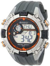 Armitron Sport 40/8300ORG Orange and Silver-Tone Accented Grey Resin Strap Chronograph Digital