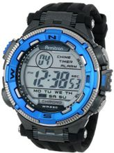 Armitron Sport 40/8301BLU Blue and Silver-Tone Accented Black Resin Strap Chronograph Digital